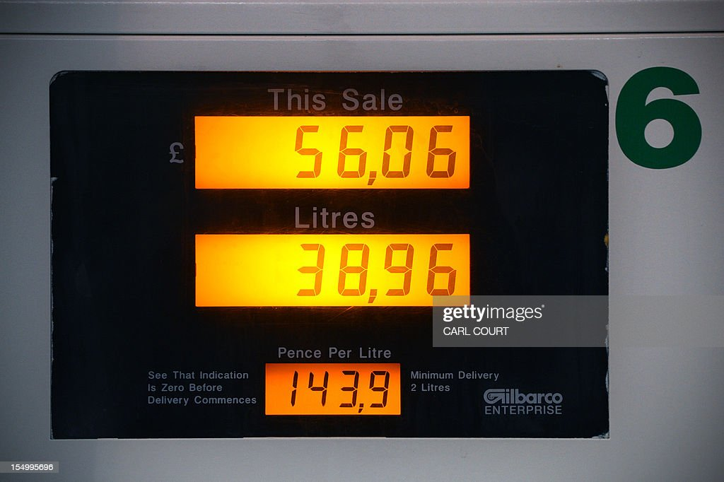 The digital display from a recent purchase is pictured at a BP filling station in central London on October 30, 2012. BP posted earnings far stronger than expected and hiked its dividend as the British energy giant prepared for a new Russia adventure after being rocked by the devastating Gulf of Mexico oil spill.
