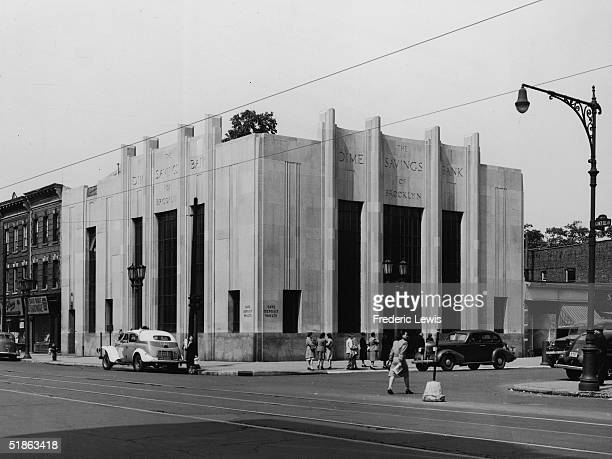 The Dime Savings Bank of Brooklyn on Coney Island Avenue New York New York 1940s