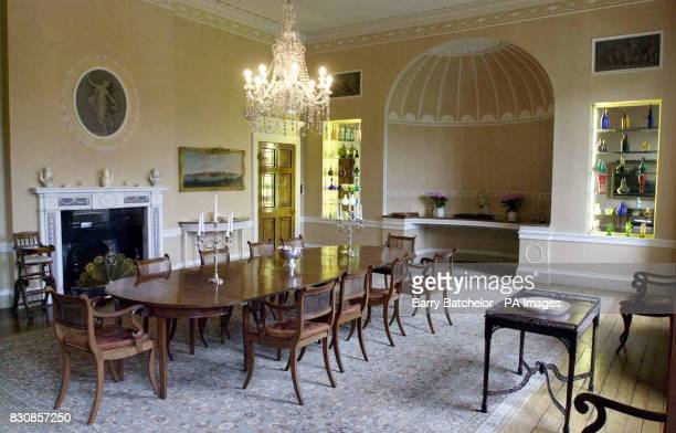 The dining room at Combe Hay Bath Somerset on the day its sale was being launched The Georgian manor house that belonged to the family behind...