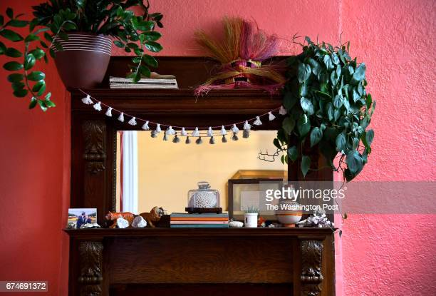 The dining room of Holley Simmons' home April 17 2017 in Washington DC Simmons made a table runner out of placemats and used the remaining tassels to...