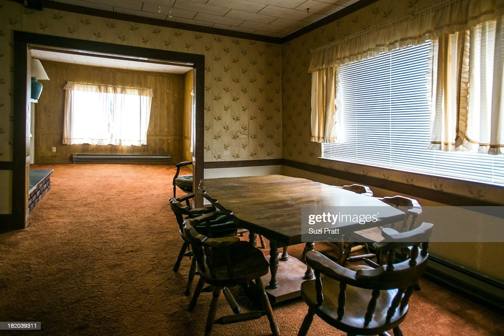 The dining room of Kurt Cobain's childhood home on September 27, 2013 in Aberdeen, Washington.