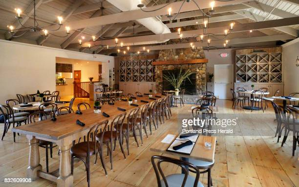 The dining room of Pearl restauarant in Kennebunk photographed on Thursday August 10 2017 Owner and Chef Rebecca Charles reopened the restaurant and...