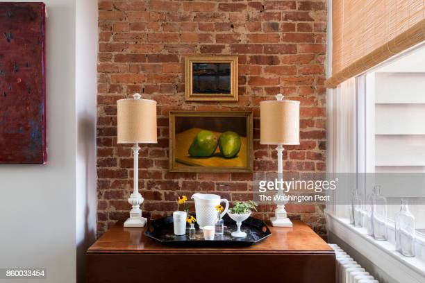 The dining room of the Hoburg family's renovated Capitol Hill rowhouse on July 26 2017 A Washington family makes a modest 100yearold three bedroom...