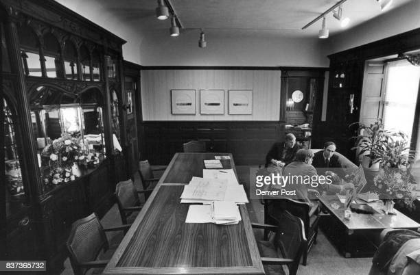 The Dining Room With Glowing Woodwork Now Serves As A Conference Room It served as a restaurant for International House for 17 years until it...