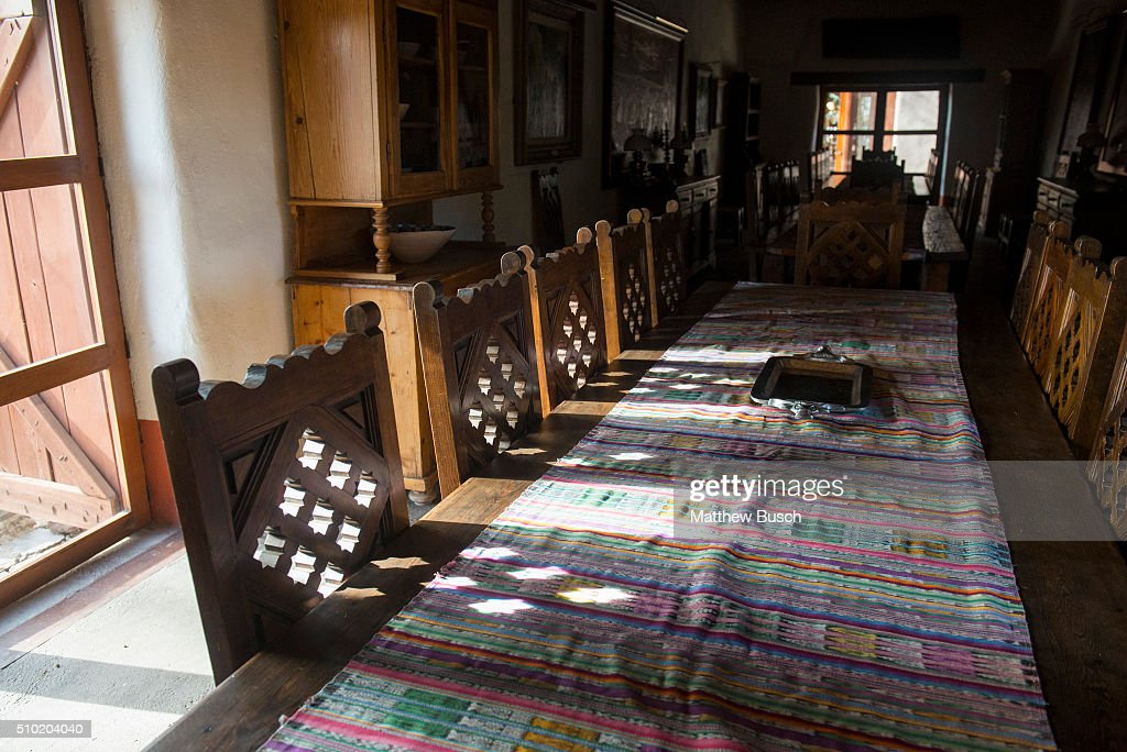 The dining table at Cibolo Creek Ranch where Supreme Court Justice Antonin Scalia dined the night before he was found dead in his room at the West Texas Resort ranch that stretches over 30,000 acres, February 14 , 2016 in Shafter, Texas. Justice Scalia was 79.