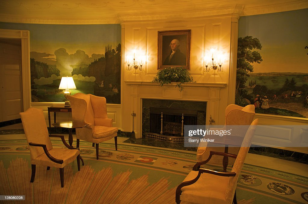 Fireplace Dc Part - 15: The Diplomatic Reception Room, The White House, Washington, D.C., U.S.A.  Oval Room