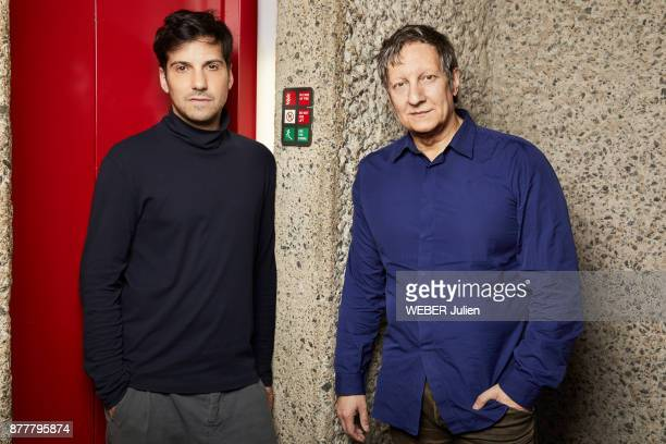 the director Matias Umpierrez and his mentor Robert Lepage are photographe for Paris Match on june 12 2017 in Paris France