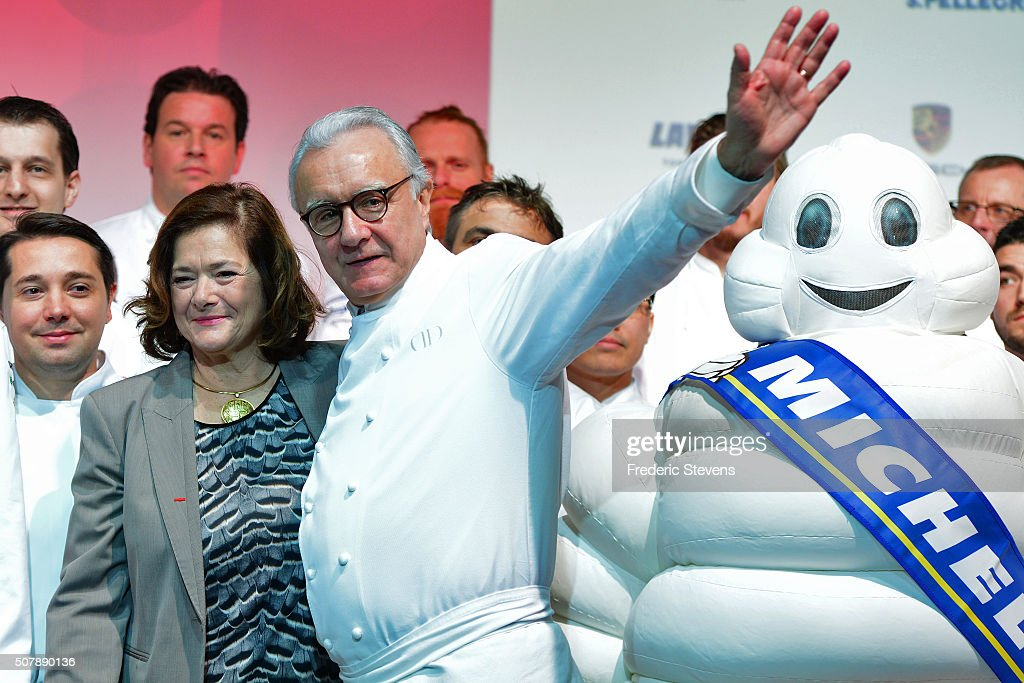 The director of Communications and Brands and Executive Committee Member of the Michelin Group Claire DorlandClauzel poses with newly named France's...