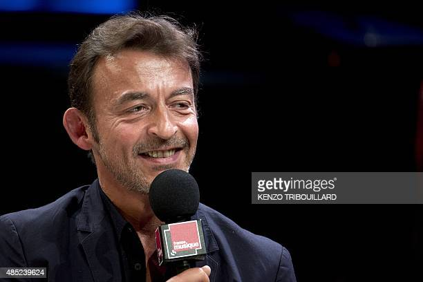 The director of French stateowned radio station France Musique Marc Voinchet speaks during a press conference on August 26 2015 in Paris AFP PHOTO /...