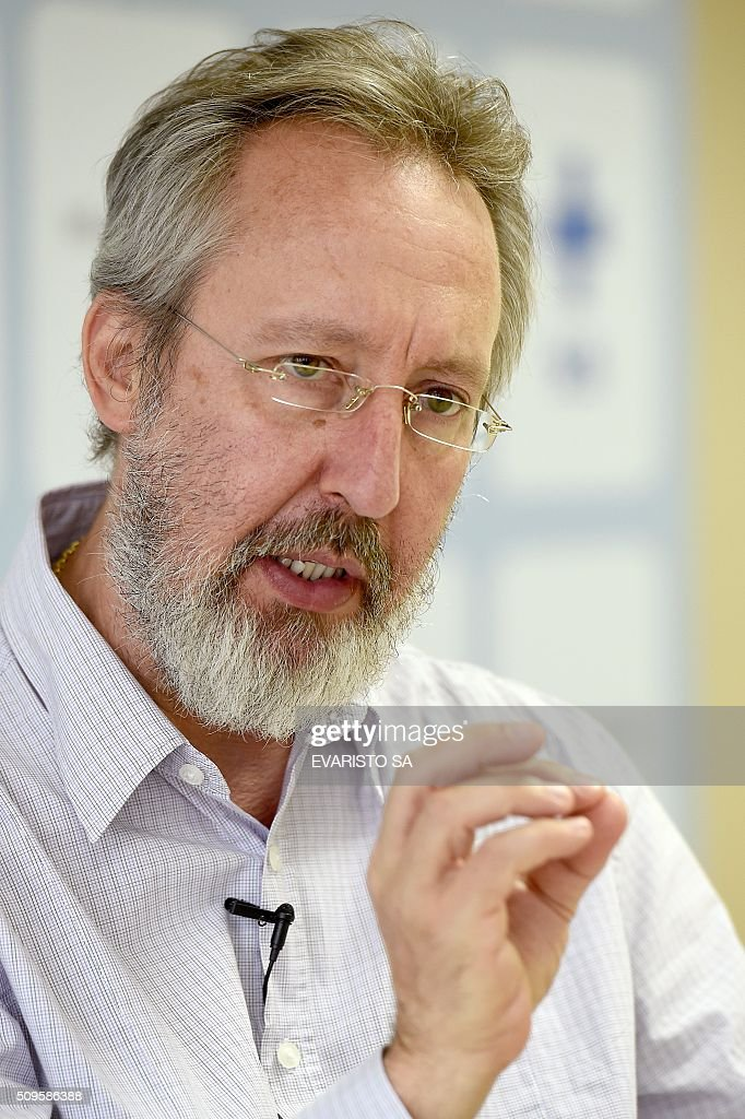 The director of the epidemiology department of the Brazilian Health Ministry Claudio Maierovitch, speaks about the Zika virus and its consequences during an interview with AFP in Brasilia, Brazil, on February 11, 2016. AFP PHOTO/EVARISTO SA / AFP / EVARISTO SA