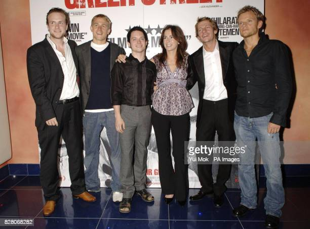 The director of the film Lexi Alexander with the cast Rafe Spall Charlie Hunnam Elijah Wood Leo Gregory and Marc Warren arrive for the gala screening...