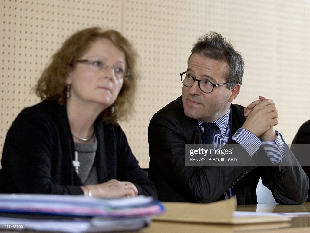 The director of the state-run Paris hospitals (AP-HP), <a gi-track='captionPersonalityLinkClicked' href=/galleries/search?phrase=Martin+Hirsch&family=editorial&specificpeople=2273261 ng-click='$event.stopPropagation()'>Martin Hirsch</a> (C) gives a press conference on January 12, 2015 at the Pitie-Salpetriere hospital in Paris with the head of the nursing school at the hospital, Veronique Marin la Meslee (R). The man who allegedly radicalized the Kouachi brothers involved in the Paris terror attacks, Farid Benyettou, 32, the former 'emir' of the Buttes Chaumont cell, was a nursing intern at the accident and emergency unit of the hospital since December. Hirsch said that Benyettou's internship at the hospital had been suspended.