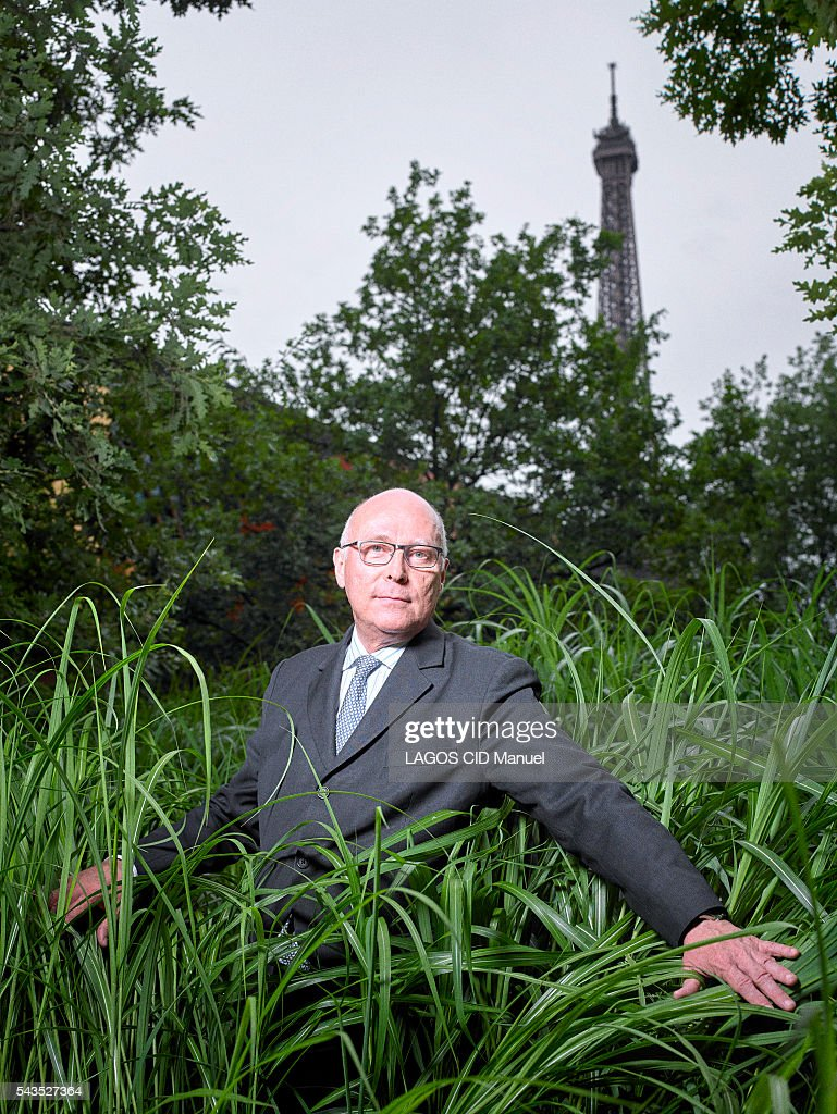 the director or the museum Quai Branly in Paris, Stephane Martin poses for paris match in the garden on june 10, 2016 in Paris, France.