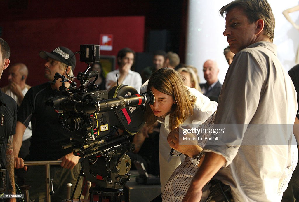 The director Sofia Coppola photo shooted at the Smeraldo Theatre on the set of the film Somewhere Milan Italy 2009
