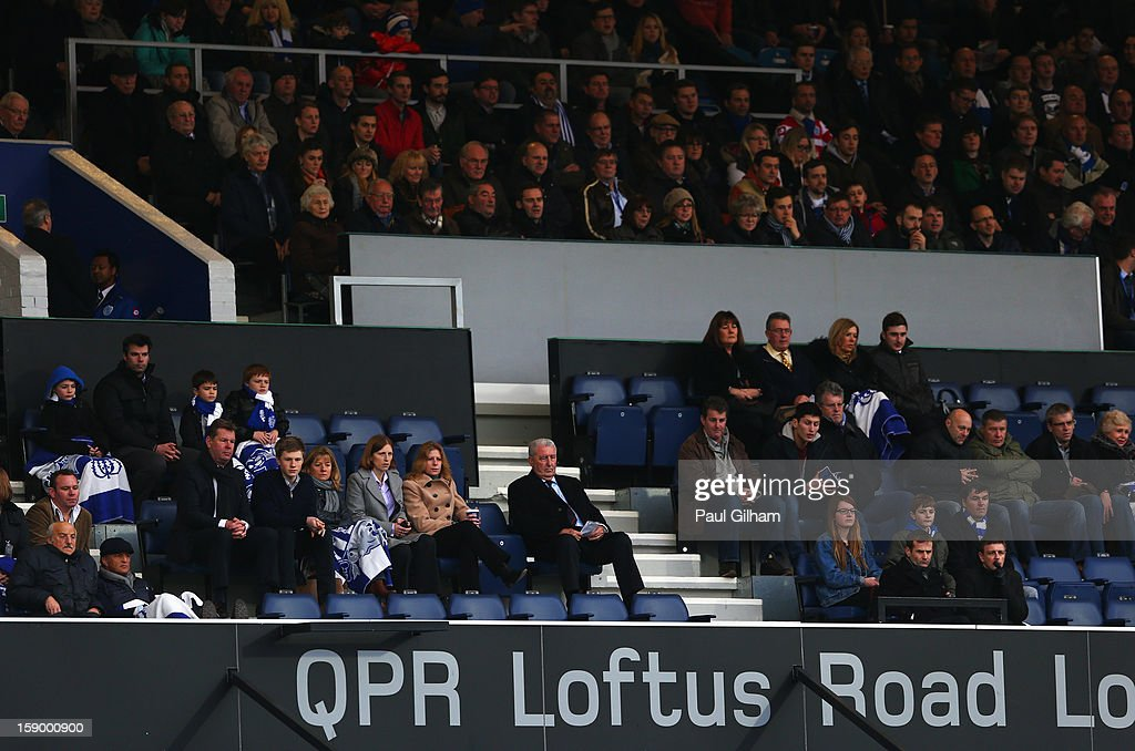 The directors box is seen with empty seats during the FA Cup with Budweiser Third Round match between Queens Park Rangers and West Bromwich Albion at Loftus Road on January 5, 2013 in London, England.