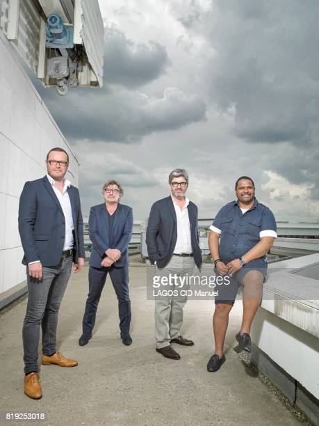 the directors of the Musical Festival with Jerome Trehorel Gerard Pont Dominique Delorme and Angelo Gopeertrait of Angelo Gopee the director of the...