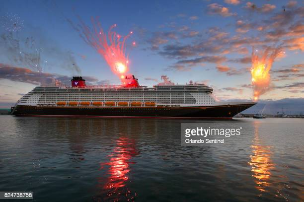The Disney cruise ship Fantasy arrives at Port Canaveral Fla on March 7 2012