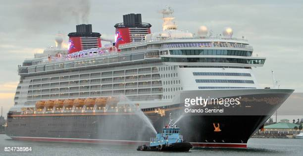 The Disney Dream arrives at Port Canaveral Fla on May 16 2011