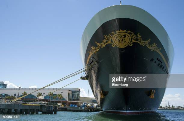 The Disney Dream cruise ship sits docked at Port Canaveral in Cape Canaveral Florida US on Wednesday July 5 2017 The US Census Bureau released trade...