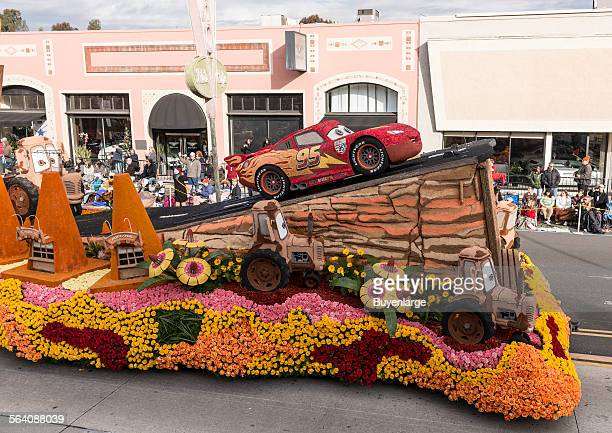 The Disneyland Resort Destination Cars Land float in the 124th Rose Parade in Pasadena California