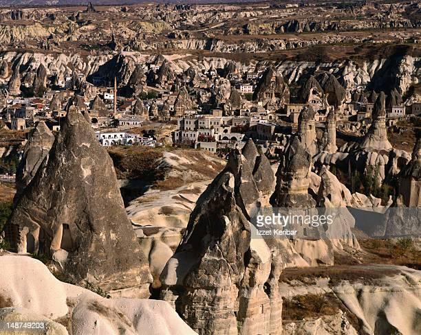 The distinctive Cappadocian landscape near Goreme.