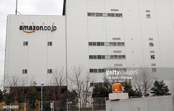 The distribution center managed by an affiliate of Amazon Japan KK is seen on January 24 2015 in Ichikawa Chiba Japan Police seized computers and...