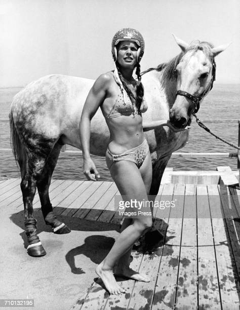 The Diving Horse Attraction at the Steel Pier circa 1977 in Atlantic City New Jersey