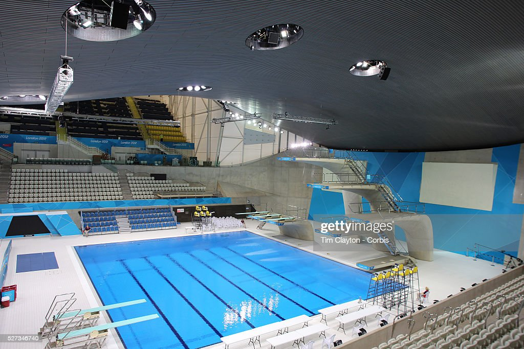 the diving pool at the aquatics centre at olympic park stratford during the london 2012