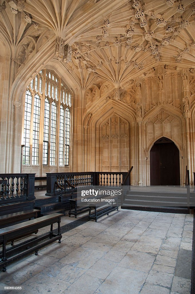 The Divinity School Oxford University's first examination room within The Bodleian Library