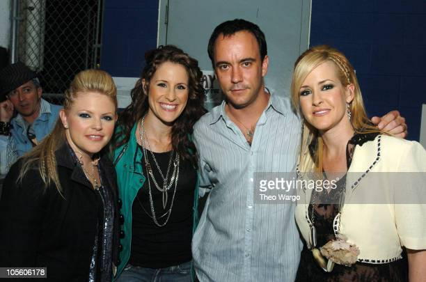 The Dixie Chicks and Dave Matthews during Vote for Change Concert Washington DC October 11 2004 at MCI Center in Washington DC Washington DC United...