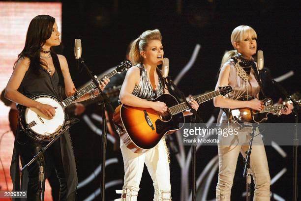 The Dixie Chicks perform at the 45th Annual Grammy Awards at Madison Square Garden on February 23 2003 in New York City