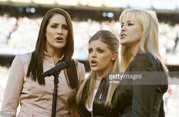 The Dixie Chicks perform before Super Bowl XXXVII between the Tampa Bay Buccaneers and the Oakland Raiders and January 26 2003 at Qualcomm Stadium in...