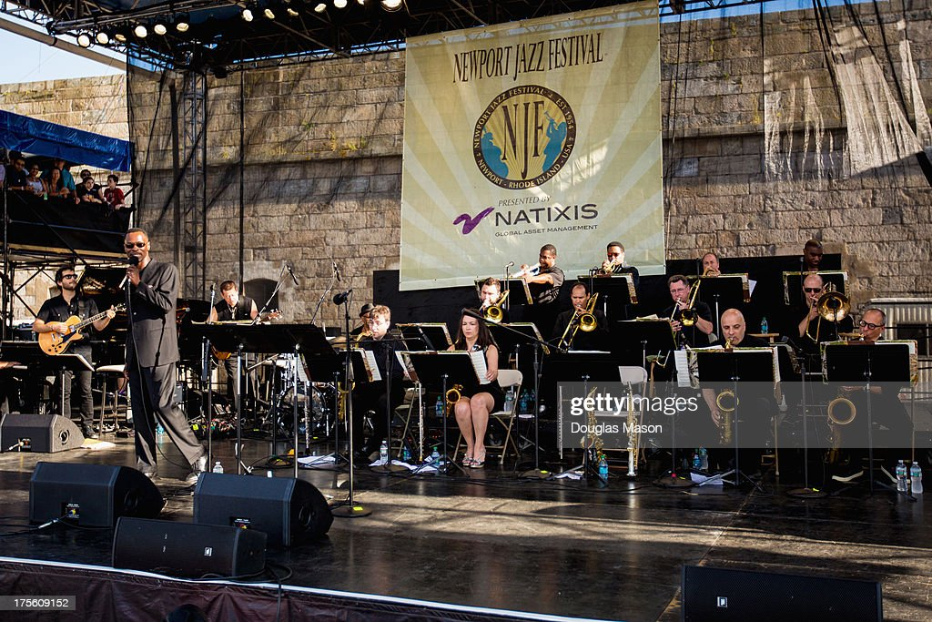 The Dizzy Gillespie Big Band performs during the Newport Jazz Festival 2013 at Fort Adams State Park on August 4, 2013 in Newport, Rhode Island.