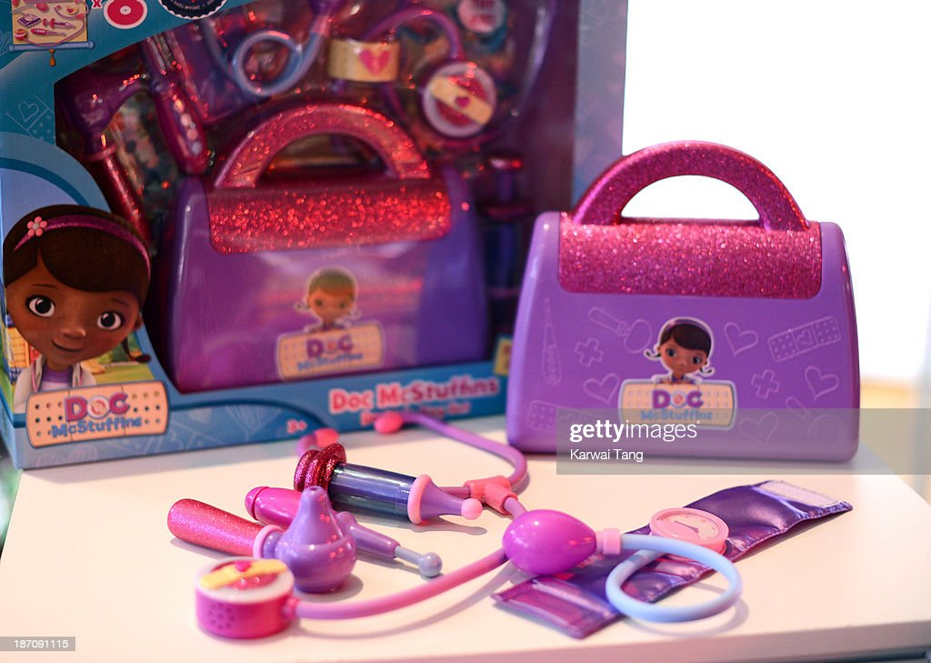 The Doc McStuffins Doctor's Bag Playset, named one of the must-have toys for Christmas 2013, is unveiled today at the Dream Toys Fair at St Mary's Church on November 6, 2013 in London, England.