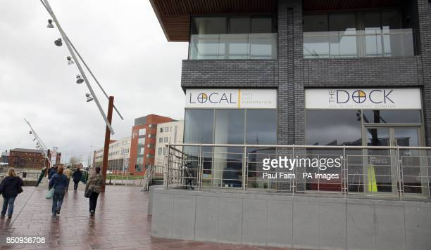 The Dock cafe in the Belfast Titanic quarter which operates an honesty box payment scheme