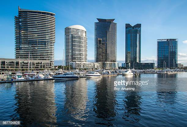 The dockland waterfront in Melbourne, Australia