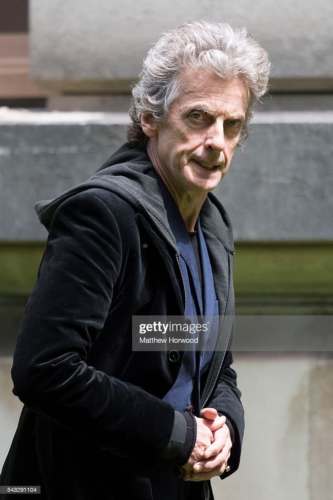 The Doctor Peter Capaldi spotted during filming for Doctor Who at Cardiff University's Main Building on Museum Avenue on June 27, 2016 in Cardiff, Wales. in Cardiff, South Wales.