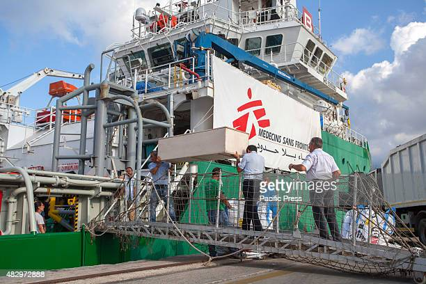 The Doctors Without Borders ship arrived at the port of Palermo carrying the bodies of four women and one man who died of dehydration as well as 529...