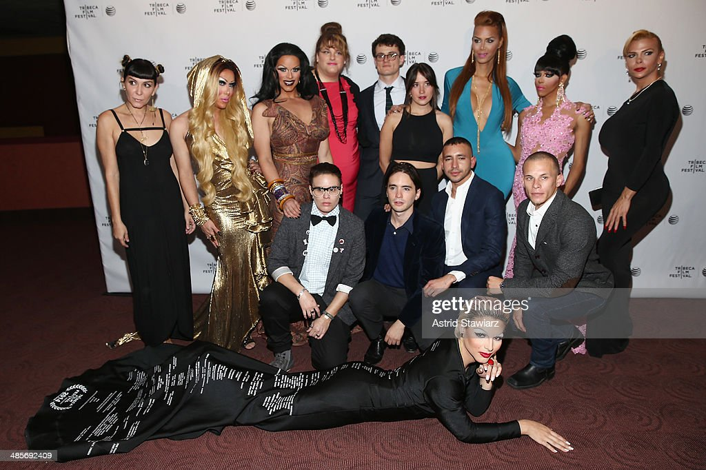 The documentary crew and subjects of 'Mala Mala' attend the 'Mala Mala' Premiere during the 2014 Tribeca Film Festival at Chelsea Bow Tie Cinemas on...