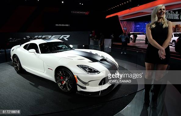 The Dodge Viper is pictured during the New York International Auto Show on March 24 2016 / AFP / Jewel SAMAD