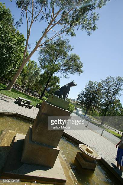 The Dog on the Tuckerbox statue at Gundagai in the Southern Highlands of New South Wales 30 January 2006 AFR Picture by ROBERT ROUGH