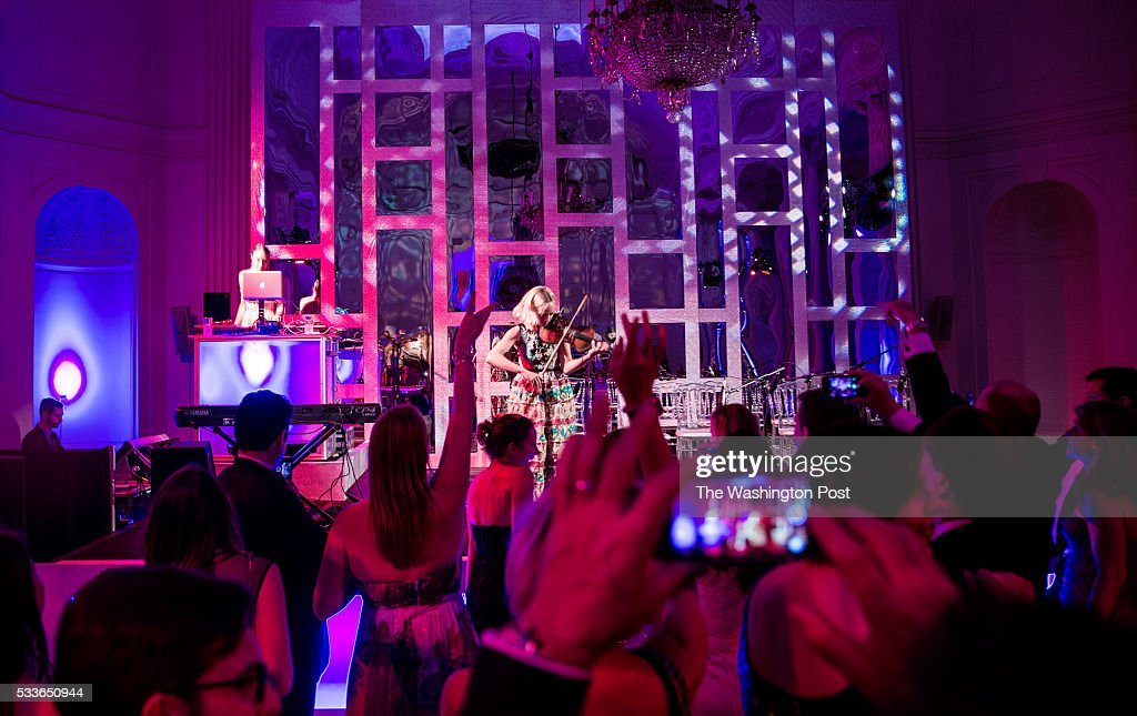 DJ Mia Moretti and Electric Violinist Caitlin Moe perform at the Washington National Opera (WNO) Ball at the Organization of American States on Saturday, May 21, 2016. The annual Ball celebrated the WNO's 60th anniversary season.