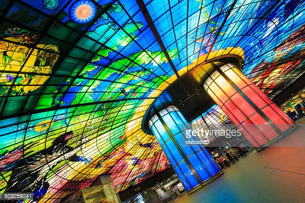The 'Dome of Light' at Formosa Boulevard Station in Taiwan is the largest glass work in the world