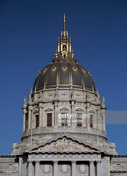 The dome of San Francisco City Hall designed by Arthur Brown San Francisco California United States
