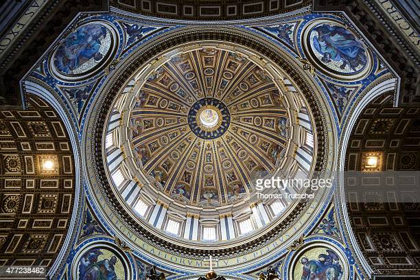 The Dome of St Peter's Basilica on June 11 in Vatican Vatican City By Catholic tradition the basilica is the burial site of its namesake Saint Peter...