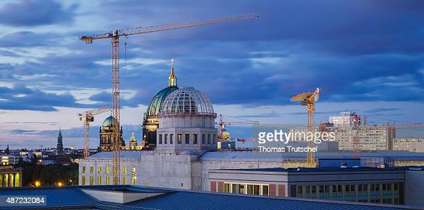 The dome of the ' Berliner Stadtschloss ' or Berlin City Palace a replica of the former Prussianera royal palace of the German capital is under...