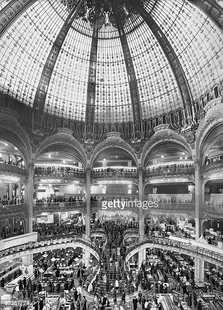 The dome of the Galeries Lafayette Paris beginning of the XXth century