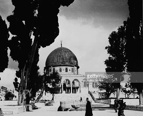 The Dome of the Rock which stands on the traditional site of the Temple of Solomon in Jerusalem