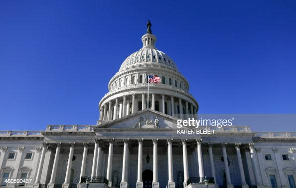 The dome of the US Capitol is seen January 4 2013 on a cold day in Washington High temperatures Monday will occur during the early morning hours as a...