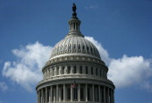 The dome of the US Capitol is seen on Capitol Hill August 28 2012 in Washington DC It has been reported that the dome has 1300 known cracks and...